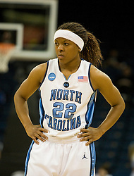 North Carolina guard Cetera DeGraffenreid (22) in action against UGA.  The #1 seed North Carolina Tar Heels defeated the Georgia Bulldogs 80-66 in the second round of the 2008 NCAA Women's Basketball Championship at the Ted Constant Convocation Center in Norfolk, VA on March 25, 2008.