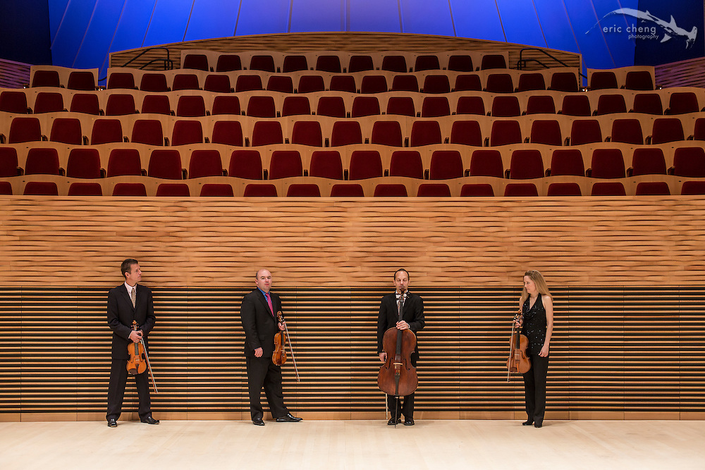 St. Lawrence String Quartet at Bing Concert Hall on November 25, 2013 (photo credit: Eric Cheng). No use without express permission from the SLSQ. Contact: http://slsq.com/contact