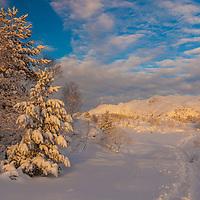 Skiing from Sedalen to Ulriken