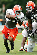 BEREA, OH - AUGUST 3:  Rookie running back Jerome Harrison #35 of the Cleveland Browns (the Browns fifth round pick in the 2006 NFL Draft) carries the ball on a running play during training camp at the Cleveland Browns Training and Administrative Complex on August 3, 2006 in Berea, Ohio. ©Paul Anthony Spinelli *** Local Caption *** Jerome Harrison
