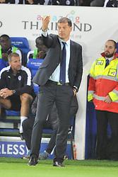 Slaven Bilic Manager,  West Ham, Leicester City v West Ham Utd, Carling Cup Round 3, King Power Stadium, Tuesday 22nd September 2015.Leicester City v West Ham Utd, Carling Cup Round 3, King Power Stadium, Tuesday 22nd September 2015.