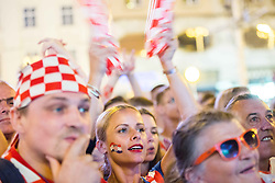 Fans of Croatia in Zagreb during EURO 2016 1/8 Final match between Croatia and Portugal, on June 24, 2016 in Zagreb, Croatia. Photo by Vid Ponikvar / Sportida