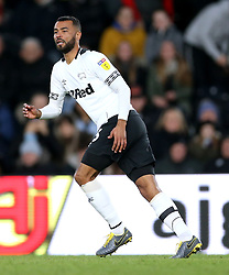 Derby County's Ashley Cole in action during the match