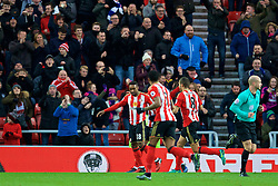 SUNDERLAND, ENGLAND - Monday, January 2, 2017: Sunderland's Jermain Defoe celebrates scoring the first goal against Liverpool during the FA Premier League match at the Stadium of Light. (Pic by David Rawcliffe/Propaganda)