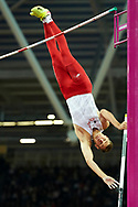 Great Britain, London - 2017 August 08: Pawel Wojciechowski (CWZS Zawisza Bydgoszcz) of Poland competes in men's pole vault final during IAAF World Championships London 2017 Day 5 at London Stadium on August 08, 2017 in London, Great Britain.<br /> <br /> Mandatory credit:<br /> Photo by © Adam Nurkiewicz<br /> <br /> Adam Nurkiewicz declares that he has no rights to the image of people at the photographs of his authorship.<br /> <br /> Picture also available in RAW (NEF) or TIFF format on special request.<br /> <br /> Any editorial, commercial or promotional use requires written permission from the author of image.