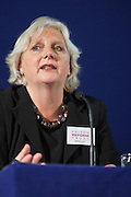 Juliet Lyon speaking after Dame Anne Owers at the Prison Reform Trust lecture 2010.  Inside Out, reflections on nine years as cheif inspector of prisons. Central Hall, Westminster.