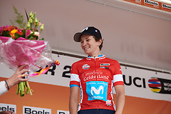 Malgorzata Jasinska (POL) receives her flowers at Boels Ladies Tour 2019 - Stage 5, a 154.8 km road race from Nijmegen to Arnhem, Netherlands on September 8, 2019. Photo by Sean Robinson/velofocus.com