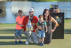 Arnold Palmer Invitational Champion 2017 Marc Leishman and Family, after the Final Round of the The Arnold Palmer Invitational Championship 2017, Bay Hill, Orlando,  Florida, USA. 19/03/2017.<br /> Picture: PLPA/ Mark Davison<br /> <br /> <br /> All photo usage must carry mandatory copyright credit (&copy; PLPA | Mark Davison)