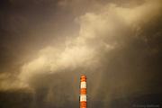 Rain falls on Smoke stack