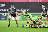 Northampton Saints' Nic Groom in action during todays match<br /> <br /> Photographer Craig Thomas/Replay Images<br /> <br /> EPCR Champions Cup Round 4 - Ospreys v Northampton Saints - Sunday 17th December 2017 - Parc y Scarlets - Llanelli<br /> <br /> World Copyright &copy; 2017 Replay Images. All rights reserved. info@replayimages.co.uk - www.replayimages.co.uk