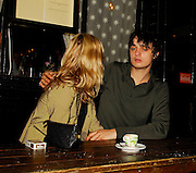15.MAY.2007. LONDON<br /> <br /> KATE AND PETE LEAVE THEIR HOUSE AND GO TO HAVE A DRINK AT THE COW PUB IN WEST LONDON, THEY THEN WENT FOR DINNER AT ROSA&rsquo;S RESTAURANT ROUND THE CORNER AND CAME OUTSIDE FOR A QUICK FAG AND A SNOG THEY THEN LEFT AT 10.00PM AND WENT HOME. WHEN THEY GOT OUT THE CAR AT THE PUB THE SEAT BELT FELL OFF AND FELL ON THE FLOOR.<br /> <br /> BYLINE: EDBIMAGEARCHIVE.CO.UK<br /> <br /> *THIS IMAGE IS STRICTLY FOR UK NEWSPAPERS AND MAGAZINES ONLY*<br /> *FOR WORLD WIDE SALES AND WEB USE PLEASE CONTACT EDBIMAGEARCHIVE - 0208 954 5968*