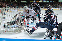 KELOWNA, CANADA - JANUARY 22: Tomas Soustal #15 of Kelowna Rockets skates behind  the net with the puck against the Tri City Americans on January 22, 2016 at Prospera Place in Kelowna, British Columbia, Canada.  (Photo by Marissa Baecker/Shoot the Breeze)  *** Local Caption *** Tomas Soustal;