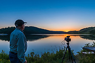 "A selfie with the other camera shooting a sunset-to-night-sky ""holy grail"" time-lapse, at Reesor Lake in Cypress Hills Interprovincial Park, July 28, 2017. The camera was using the TimeLapse+ View bramping intervalometer."