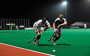 Canterbury's against Surbiton in the NOW: Pension Men's Hockey League Premier Division, Polo Farm, Canterbury, Kent, 22nd November 2014.