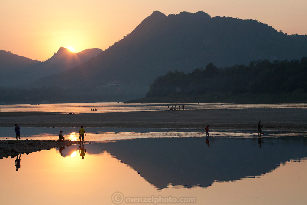 Mekong River at Ban Saylom, south of Luang Prabang, Laos.