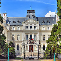 Préfecture of Haute-Savoie in Annecy, France <br /> The French government is organized at the national, regional, divisional or department and finally the commune levels. The town of Annecy is the capital of the Haute-Savoie department. This building houses their administrative services.