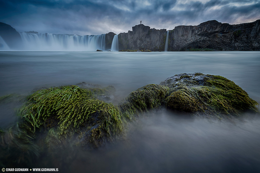 Godafoss waterfall in North-Iceland. Taken late evening.