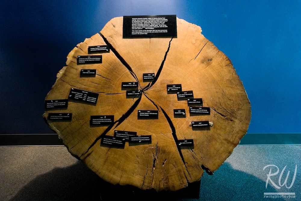 Abe Lincoln's Life Timeline in Tree Rings, Abraham Lincoln Birthplace National Historic Site, Hodgenville, Kentucky