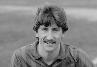 Reggie Dornan, footballer, Ards FC, N Ireland, March 1986, 19860302RD<br /> <br /> Copyright Image from Victor Patterson, 54 Dorchester Park, <br /> Belfast, UK, BT9 6RJ<br /> <br /> t1: +44 28 9066 1296 (from Rep of Ireland 048 9066 1296)<br /> t2: +44 28 9002 2446 (from Rep of Ireland 048 9002 2446)<br /> m: +44 7802 353836<br /> <br /> e1: victorpatterson@me.com<br /> e2: victorpatterson@gmail.com<br /> <br /> www.victorpatterson.com<br /> <br /> Please see my Terms and Conditions of Use at VICTORPATTERSON.COM. It is IMPORTANT that you familiarise yourself with them.<br /> <br /> Images used on the Internet must be visibly watermarked i.e. ©VICTORPATTERSON.COM within the body of the image and copyright metadata must not be deleted. Images used on the Internet have a size restriction of 4kbs and are chargeable at the then current NUJ rates.<br /> <br /> This image is only available for the use of the download recipient i.e. television station, newspaper, magazine, book publisher, etc, and must not be passed on to any third party. It is also downloaded on condition that each and every usage is notified within 7 days to victorpatterson@me.com<br /> <br /> The right of Victor Patterson to be identified as the author is asserted in accordance with The Copyright Designs And Patents Act (1988).