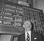 Rome, 1970. Italian writer Guido Piovene, winner of the 24h Strega Literary Award / Roma, 1970. Lo scrittore Guido Piovene, vincitore del XXIV° Premio Strega - Marcello Mencarini Historical Archives