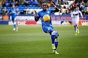 Peterborough Utd midfielder Siriki Dembélé (10) controlling the ball during the EFL Sky Bet League 1 match between Peterborough United and Rochdale at London Road, Peterborough, England on 12 January 2019.