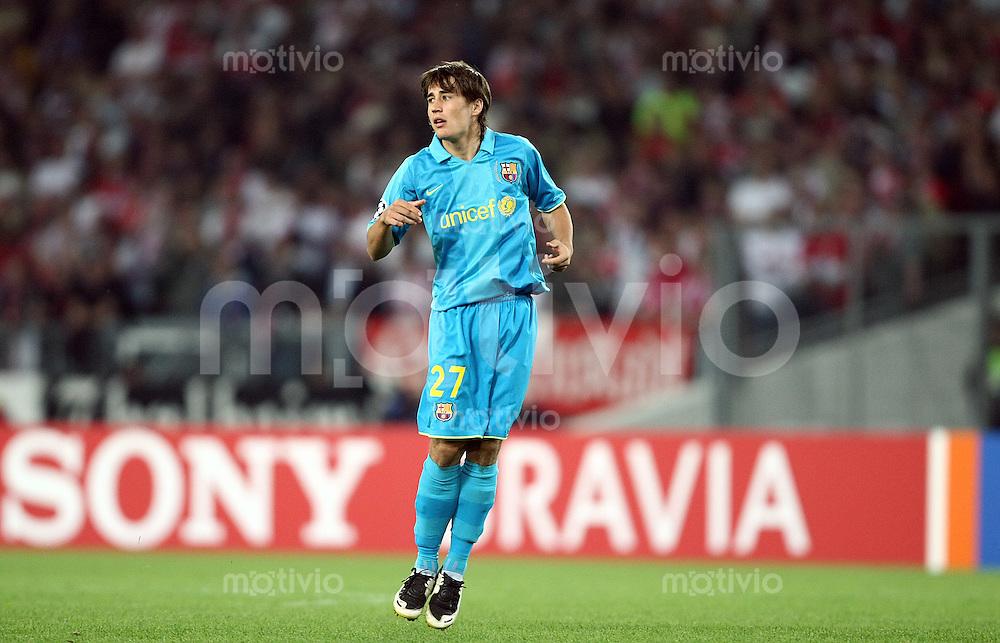 Fussball Champions League Saison 2007/2008 Bojan KRKIC (Barcelona).