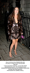 Owner of Jimmy Choo TAMARA MELLON, at a party in London on 31st January 2004.<br /> PRE 200