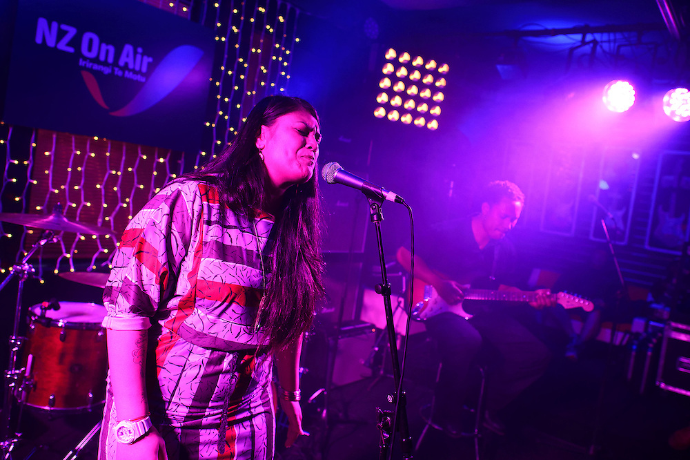 Aaradhna performs at NZ On Air's Showcase. Backbeat Bar, Auckland. 15 November 2012
