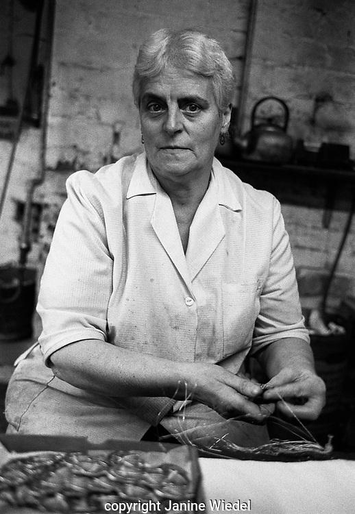 Mrs Florence Allen a Gilder at Turner & Simpson  in Jewellery Quarter Birmingham, West Midlands UK