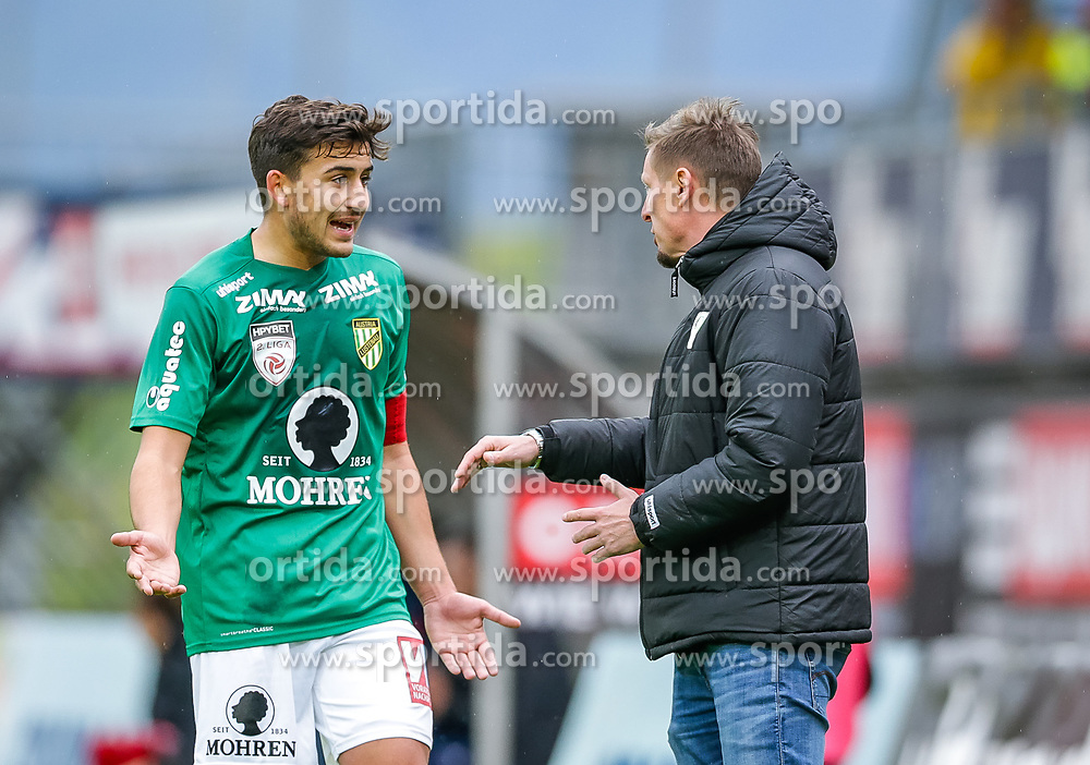 04.05.2019, Reichshofstadion, Lustenau, AUT, 2. FBL, SC Austria Lustenau vs SK Vorwärts Steyr, 25. Runde, im Bild Marco Krainz (SC Austria Lustenau) und Trainer Gernot Plassnegger (SC Austria Lustenau) // during the Erste Liga 25th round match between SC Austria Lustenau and SK Vorwärts Steyr at the Reichshofstadion in Lustenau, Austria on 2019/05/04. EXPA Pictures © 2019, PhotoCredit: EXPA/ Peter Rinderer