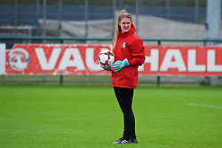 NEWPORT, WALES - Tuesday, April 3, 2018: Wales' goalkeeper Claire Skinner during a training session at Dragon Park ahead of the FIFA Women's World Cup 2019 Qualifying Round Group 1 match between England and Wales. (Pic by Rebecca Neaden/Propaganda)