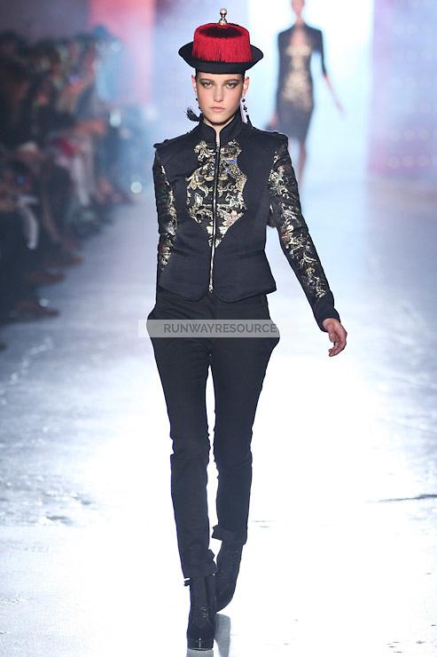 Tati Cotliar walks down runway for F2012 Jason Wu's collection in Mercedes Benz fashion week in New York on Feb 10, 2012 NYC