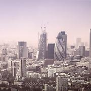 London city scape , gherkin, winter