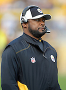 Pittsburgh Steelers head coach Mike Tomlin looks on during the NFL week 16 football game against the St. Louis Rams on Saturday, December 24, 2011 in Pittsburgh, Pennsylvania. The Steelers won the game in a 27-0 shutout. ©Paul Anthony Spinelli