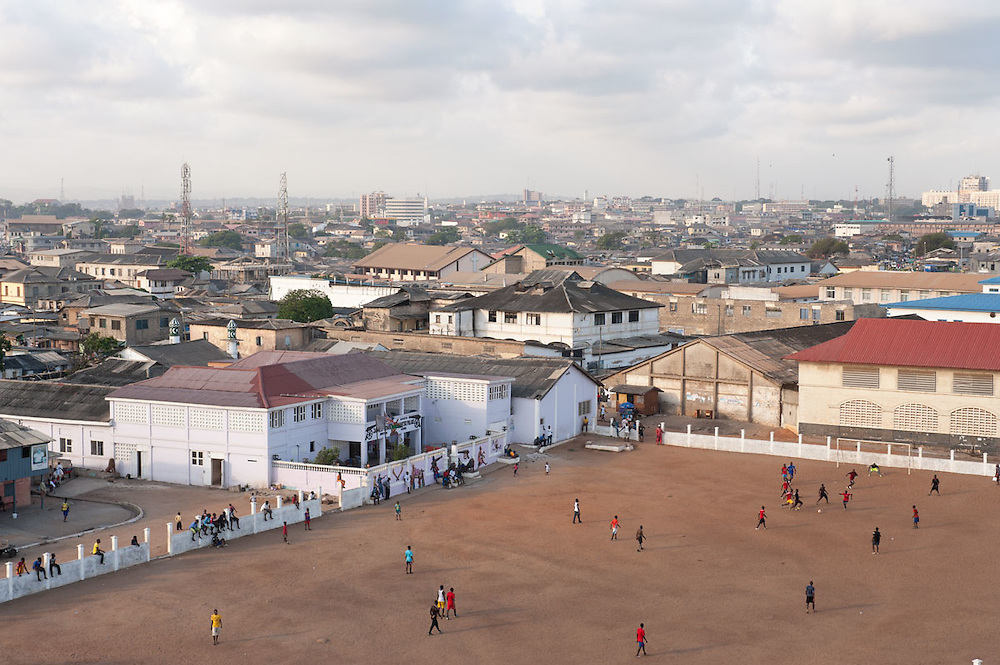 View of James Town and Accra from James Town's light house, Ghana 2011