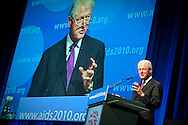 Austria, Vienna. XVIII International AIDS Conference (AIDS 2010).Monday Plenary Session..Photo shows: Former President of the United States, Bill Clinton, Founder of the William J. Clinton Foundation..©IAS/Steve Forrest/Workers' Photos