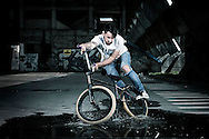 BMX Cycling, Young Men, Stunt, Puddle, Balance,
