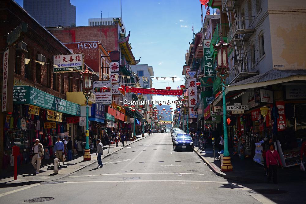 Jackson street in Chinatown, San Francisco