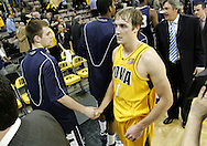24 JANUARY 2007: Iowa guard Adam Haluska (1) after Iowa's 79-63 win over Penn State at Carver-Hawkeye Arena in Iowa City, Iowa on January 24, 2007.