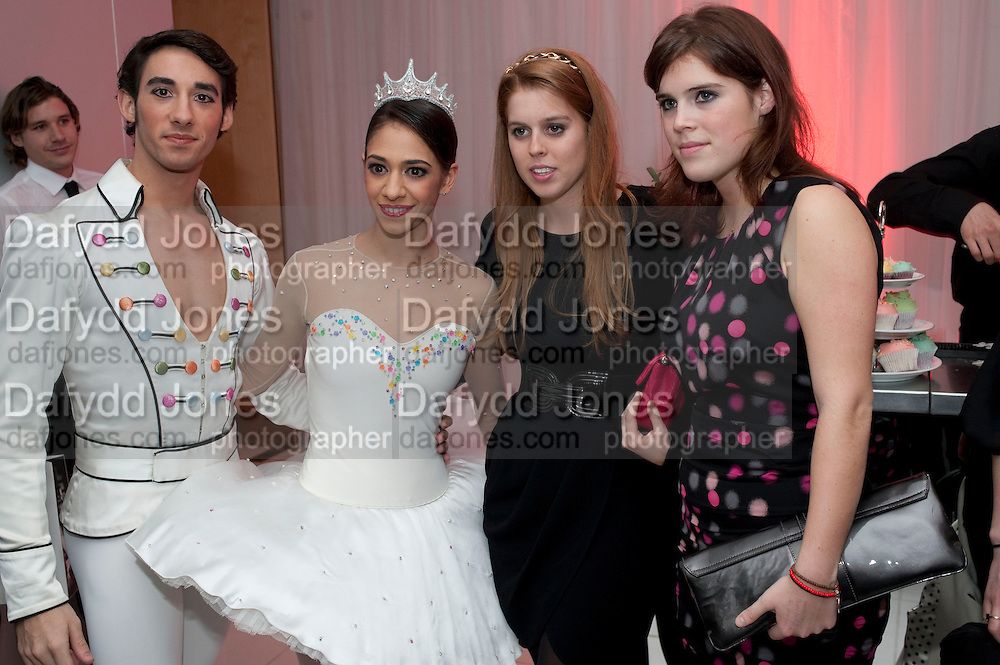 ESTEBAN BERLANGA; BEGONA CAO;  PRINCESS EUGENIE; PRINCESS BEATRICE;, , English National Ballet launches its Christmas season with a partyu before s performance of The Nutcracker at the Coliseum.  St. Martin's Lane Hotel.  London. 16 December 2009 *** Local Caption *** -DO NOT ARCHIVE-© Copyright Photograph by Dafydd Jones. 248 Clapham Rd. London SW9 0PZ. Tel 0207 820 0771. www.dafjones.com.<br /> ESTEBAN BERLANGA; BEGONA CAO;  PRINCESS EUGENIE; PRINCESS BEATRICE;, , English National Ballet launches its Christmas season with a partyu before s performance of The Nutcracker at the Coliseum.  St. Martin's Lane Hotel.  London. 16 December 2009