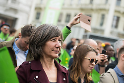 27.04.2019, Mariahilferstrasse, Wien, AUT, Die Grünen, Wahlkampfauftakt zur EU-Wahl. im Bild Gemeinderätin und Spitzenkandidatin der Wiener Grünen Birgit Hebein // during campaign opening of the Austrian Greens due to European Elections in Vienna, Austria on 2019/04/27. EXPA Pictures © 2019, PhotoCredit: EXPA/ Michael Gruber