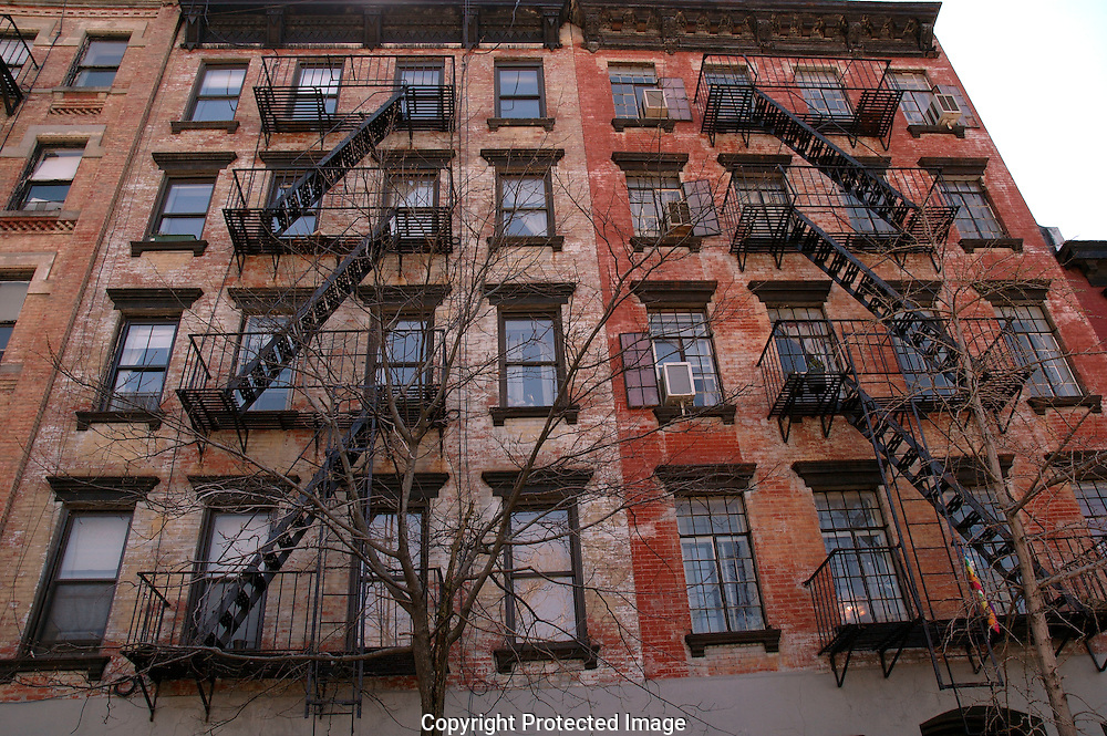 Apartment Building Fire Escape Ladder new york apartment buildings in soho are of manhatten with typical