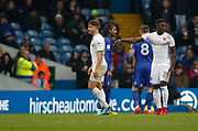 Leeds United defender Gaetano Berardi (28) leaves the pitch after receiving a red card during the EFL Sky Bet Championship match between Leeds United and Cardiff City at Elland Road, Leeds, England on 3 February 2018. Picture by Paul Thompson.
