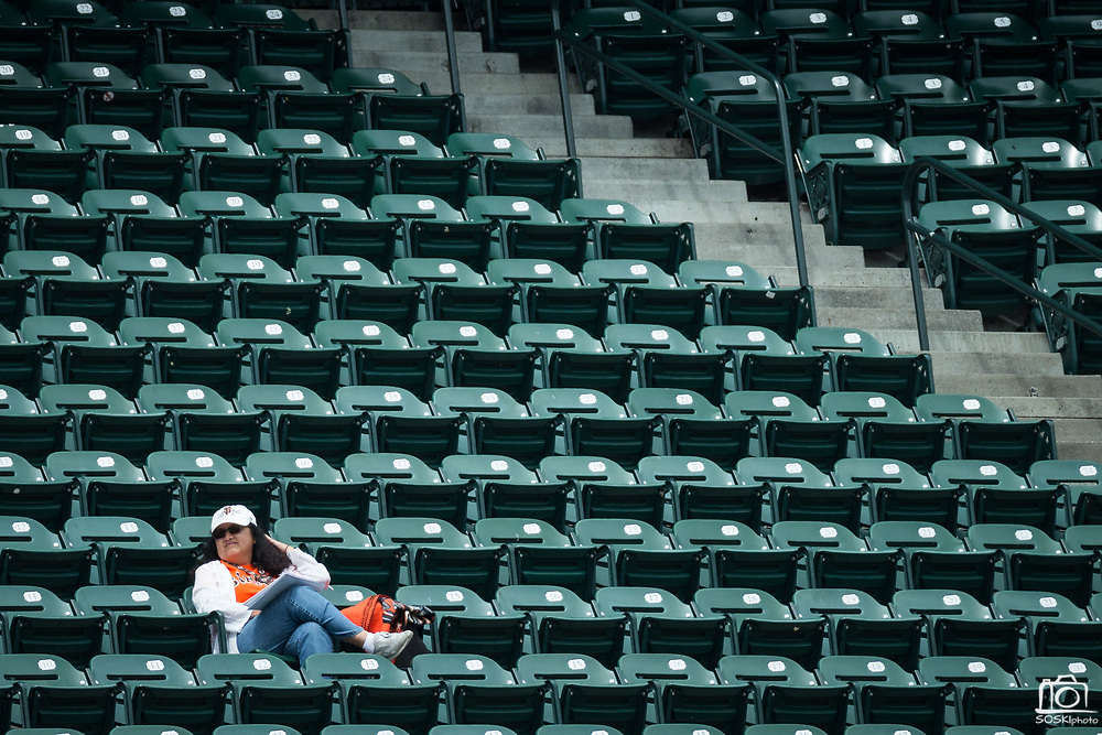 Fans are sparse in the upper level during a MLB game between San Francisco Giants and Colorado Rockies at AT&T Park in San Francisco, California, on September 20, 2017. (Stan Olszewski/Special to S.F. Examiner)