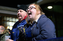 Worcester Warriors fans - Mandatory by-line: Dougie Allward/JMP - 04/11/2016 - RUGBY - Sixways Stadium - Worcester, England - Worcester Warriors v Bristol Rugby - Anglo Welsh Cup