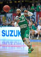 Wroclaw 19/10/2014<br /> Tauron Basket Liga<br /> Sezon 2014/2015<br /> Mecz WKS Slask Wroclaw v Stelmet Zielona Gora<br /> Na zdj. Steven Burtt /Stelmet/<br /> Fot. Piotr Hawalej