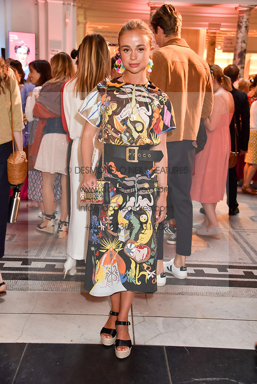 """Lady Amelia Windsor at the opening of """"Frida Kahlo: Making Her Self Up"""" Exhibition at the V&A Museum, London England. 13 June 2018."""