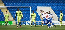 COLCHESTER, ENGLAND - Saturday, April 24, 2010: Tranmere Rovers' players look dejected after conceding the first goal of the match after Colchester United's Anthony Wordsworth scores to make it 1-0 during the Football League One match at the Western Community Stadium. (Photo by Gareth Davies/Propaganda)