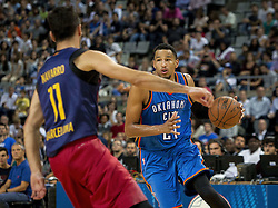 October 5, 2016 - Barcelona, Catalonia, Spain - André Roberson in action during the NBA Global Games match between FC Barcelona and Oklahoma City Thunder at Palau Sant Jordi in Barcelona, Spain on October 5, 2016. (Credit Image: © Miquel Llop/NurPhoto via ZUMA Press)