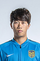 **EXCLUSIVE**Portrait of Chinese soccer player Xie Pengfei of Jiangsu Suning F.C. for the 2018 Chinese Football Association Super League, in Nanjing city, east China's Jiangsu province, 23 February 2018.